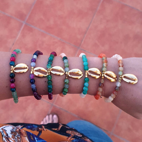 Pulsera Gold Shell 4
