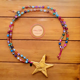 Collar largo la Love Stars Multicolor