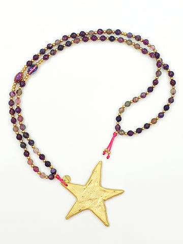Collar largo la Love Stars Morado