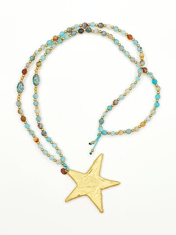 Collar largo la Love Stars Azul
