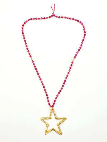 Collar largo largo Big Star Pink
