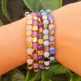 Conjunto pulsera GOLD PURPLE