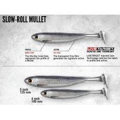 "LiveTarget Slow Roll Mullet 4"" & 5"" - Soft Plastics 