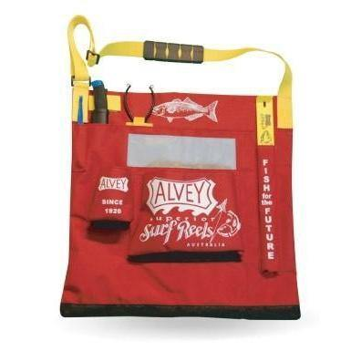 Alvey XL Wading Bag Red/Gold Trim-Addict Tackle