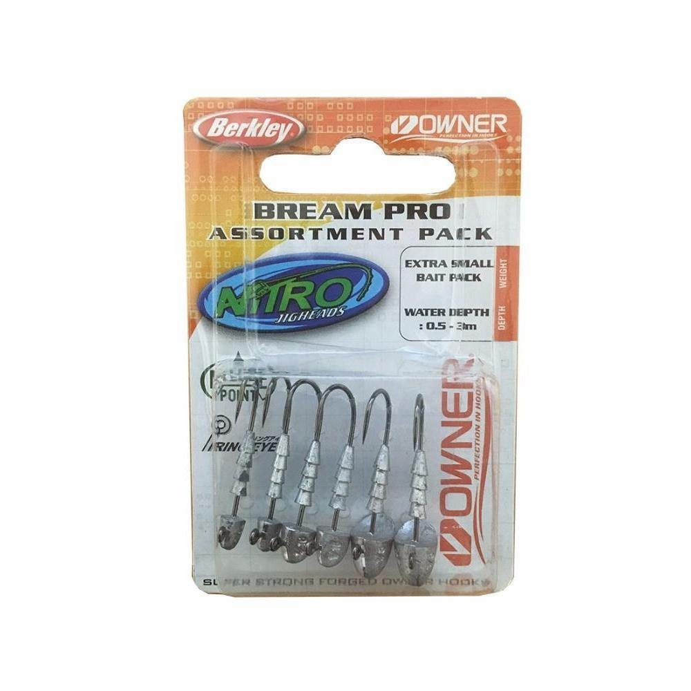 Berkley Nitro Bream Pro Jig Head Assorted Pack