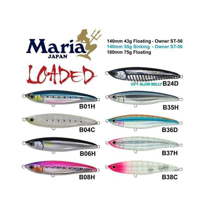 Maria Loaded 140mm Floating Stickbait-Addict Tackle