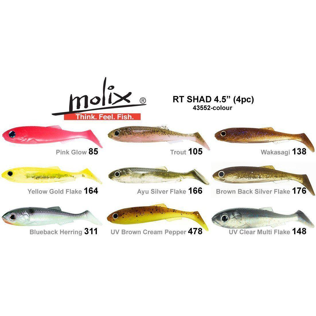 Molix RT Shad Soft Plastic - Soft Plastics | Addict Tackle