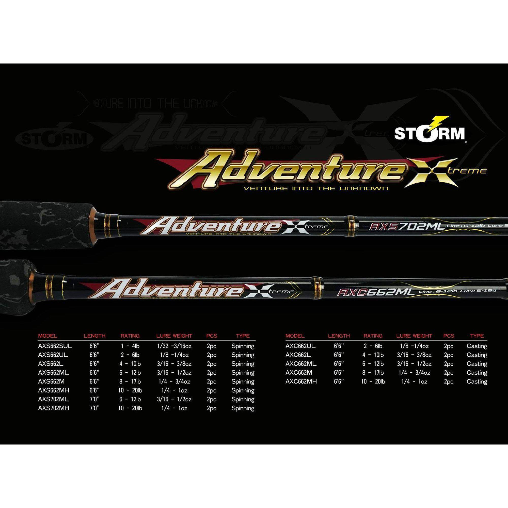 Storm Adventure Xtreme Baitcast - Rods - Baitcaster | Addict Tackle