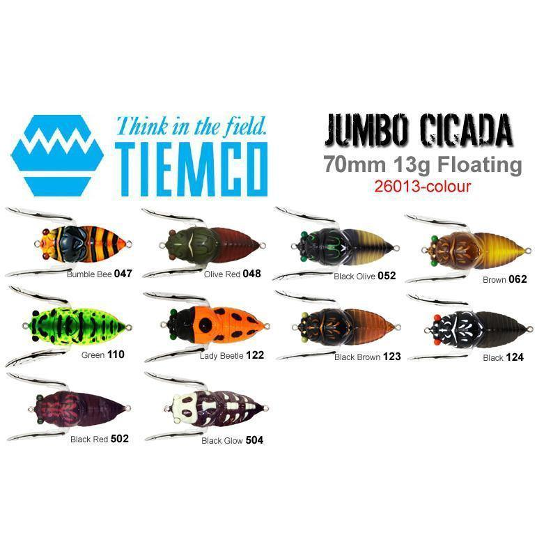 Tiemco Jumbo Cicada Hard Body Lure-Addict Tackle