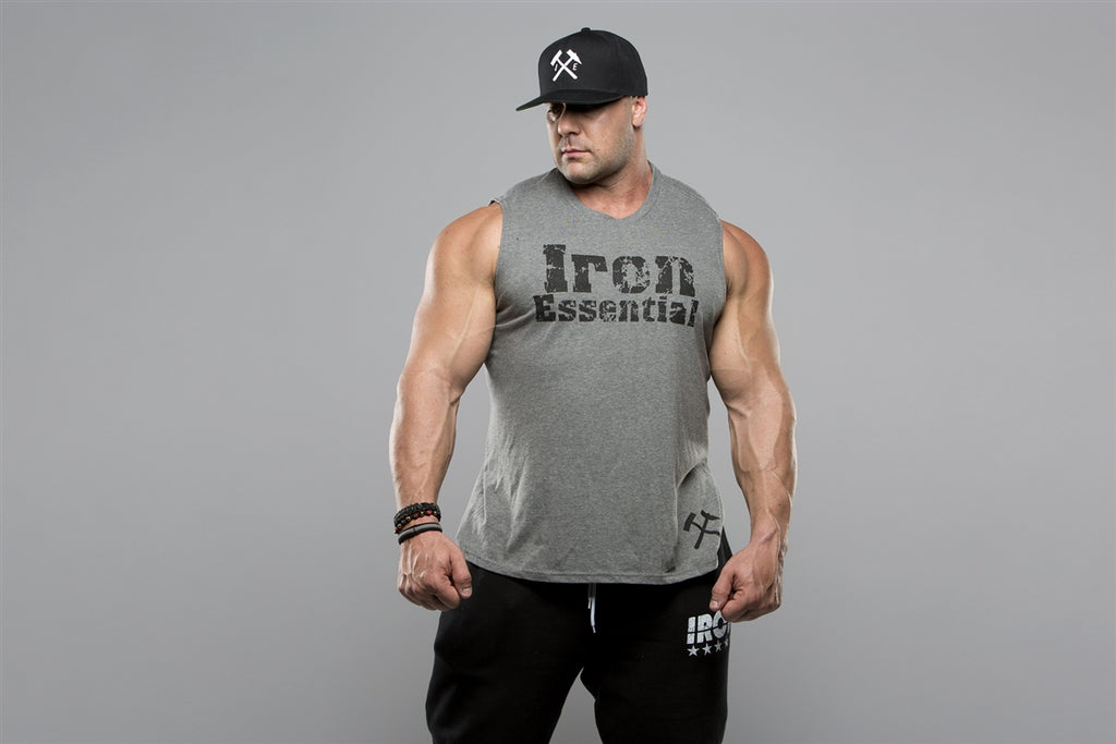 Muscle Sleeveless Tank - Iron Essential