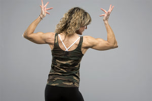 Women's Camo Tank - Iron Essential