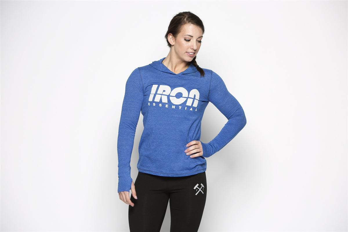 Women's Pullover with Thumb - Iron Essential
