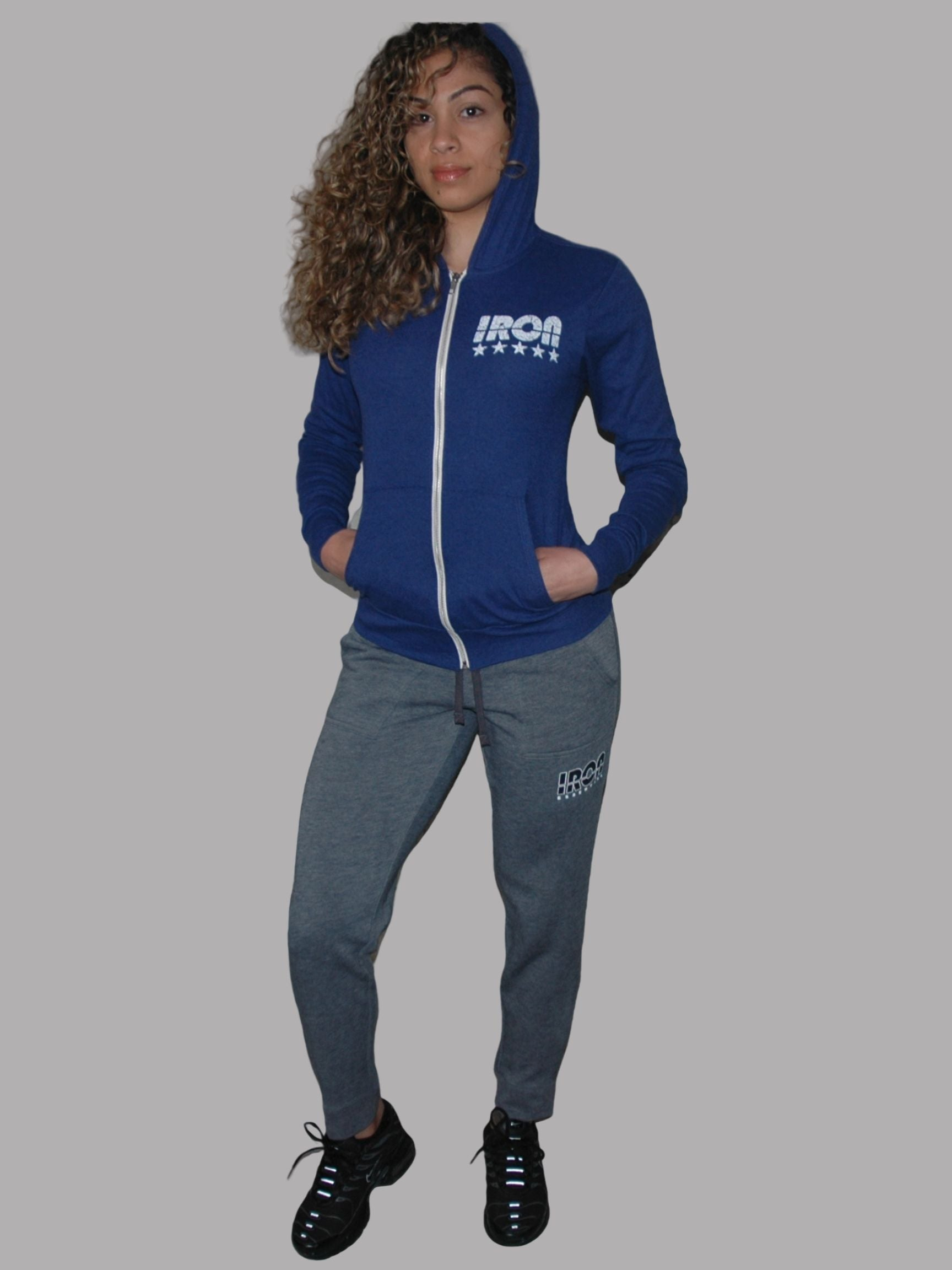Blue Iron Zip-Up Hoodie