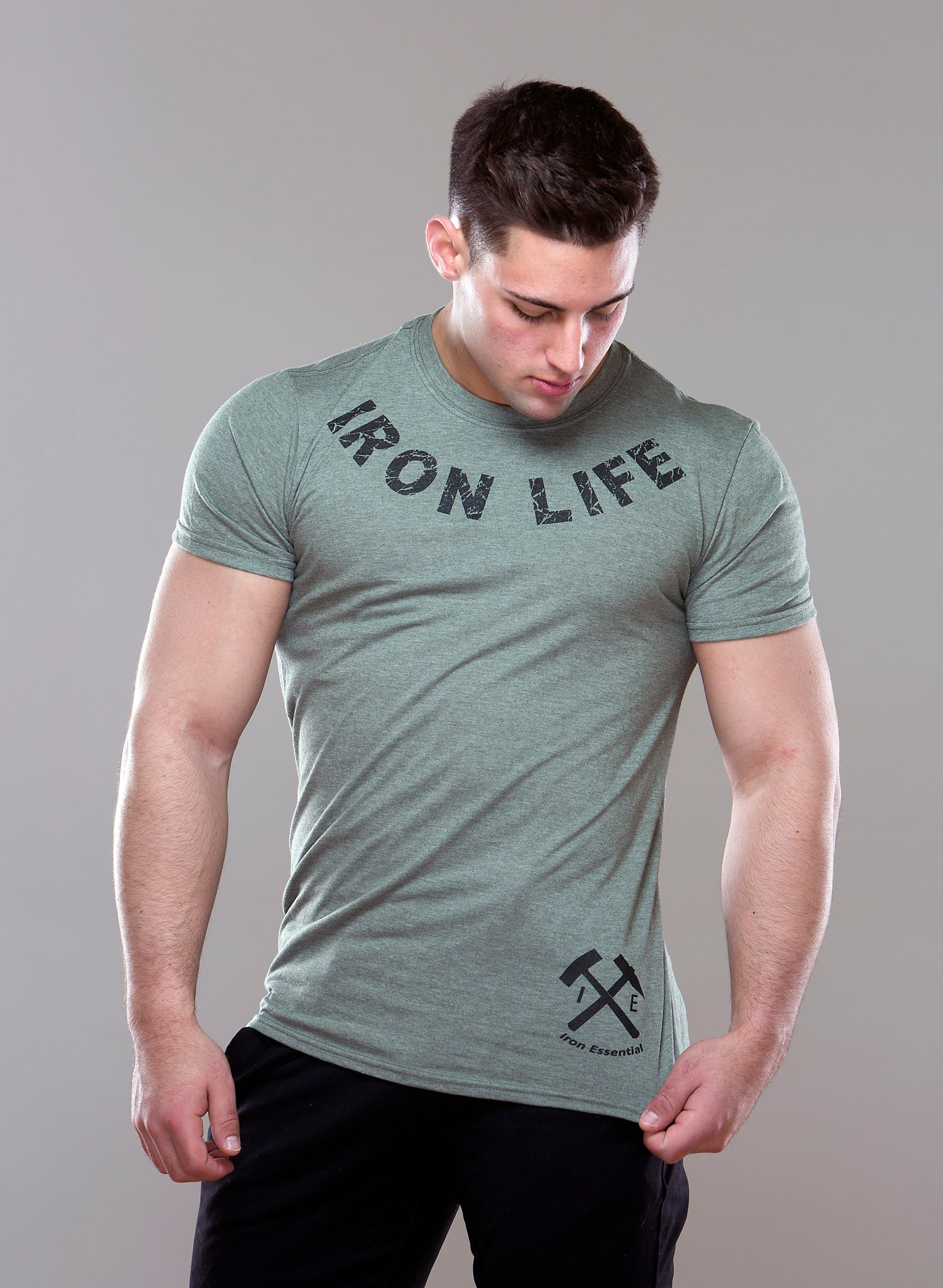 Iron Curved Tee - Iron Essential