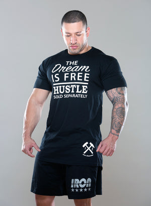 The Dream is Free, Hustle Sold Separately Tee - Iron Essential