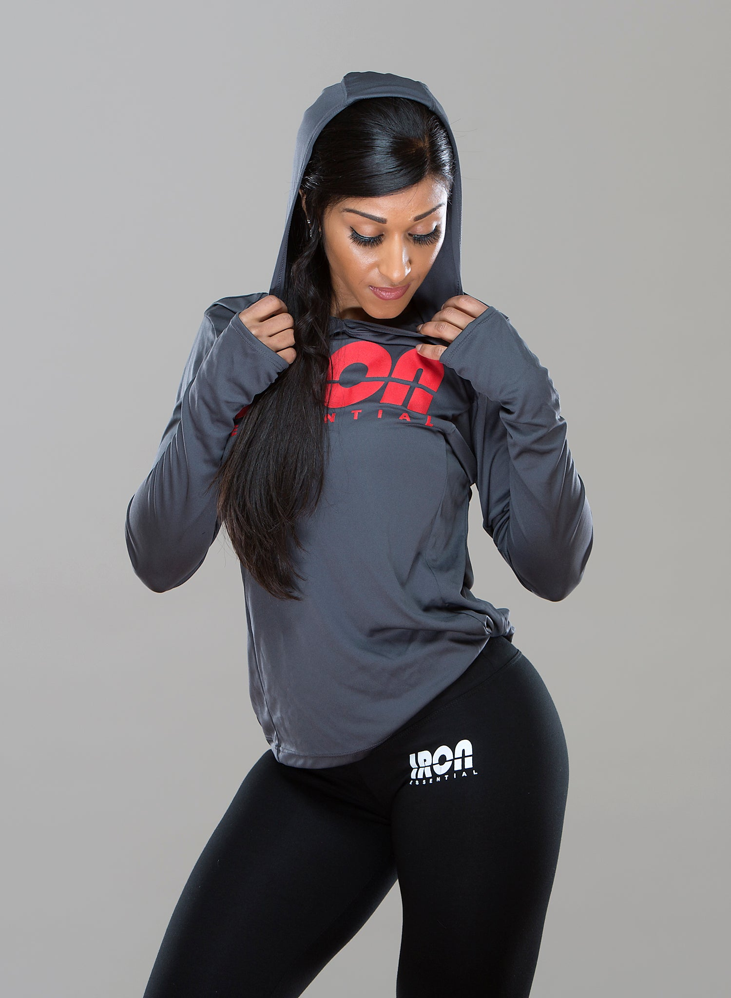 Women's Hooded Pullover - Iron Essential
