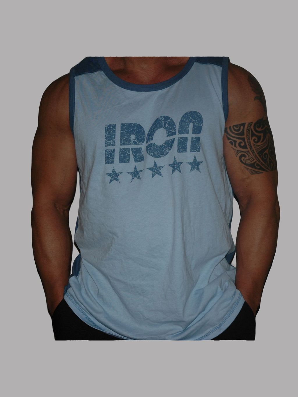 Sleeveless Blue Iron Shirt