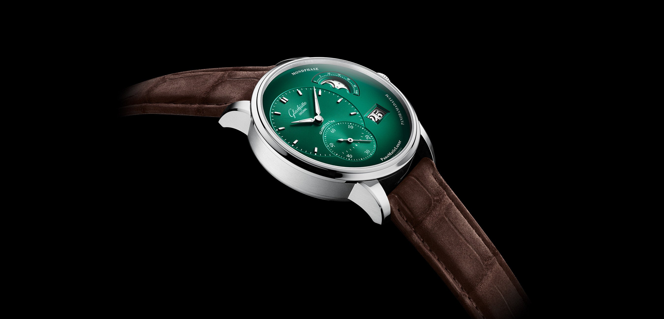 Glashütte Original presents exciting new Pano with deep green dial