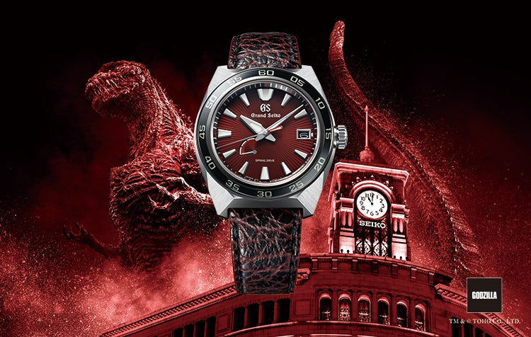 Spring Drive and Godzilla. A celebration of two anniversaries in a Grand Seiko limited edition. Available at Manfredi Jewels.