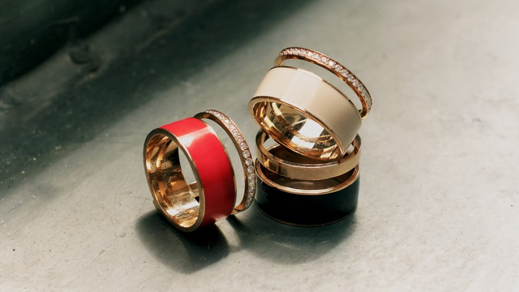 Red enamel rings (and other jewels) for Chinese New Year and beyond