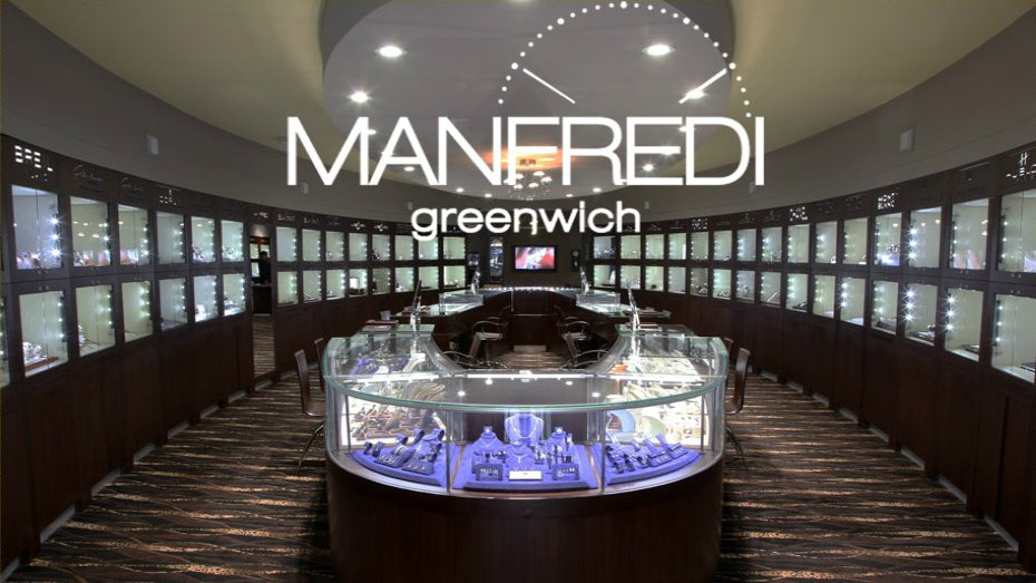 Manfredi Jewels works with top end indie watchmakers to celebrate 30th anniversary AMERICAEDITOR'S CHOICENEWSby ROB CORDER on OCTOBER 17, 2018 FACEBOOK TWITTER LINKEDIN Manfredi Jewels Manfredi Jewels will hold a celebration to mark its 30th anniversary this month at its flagship boutique in Greenwich, Connecticut, and is teaming up with some of its most prestigious brands including Fabergé, Messika, Voutilainen, and Grönefeld to create and showcase one-of-a-kind pieces.