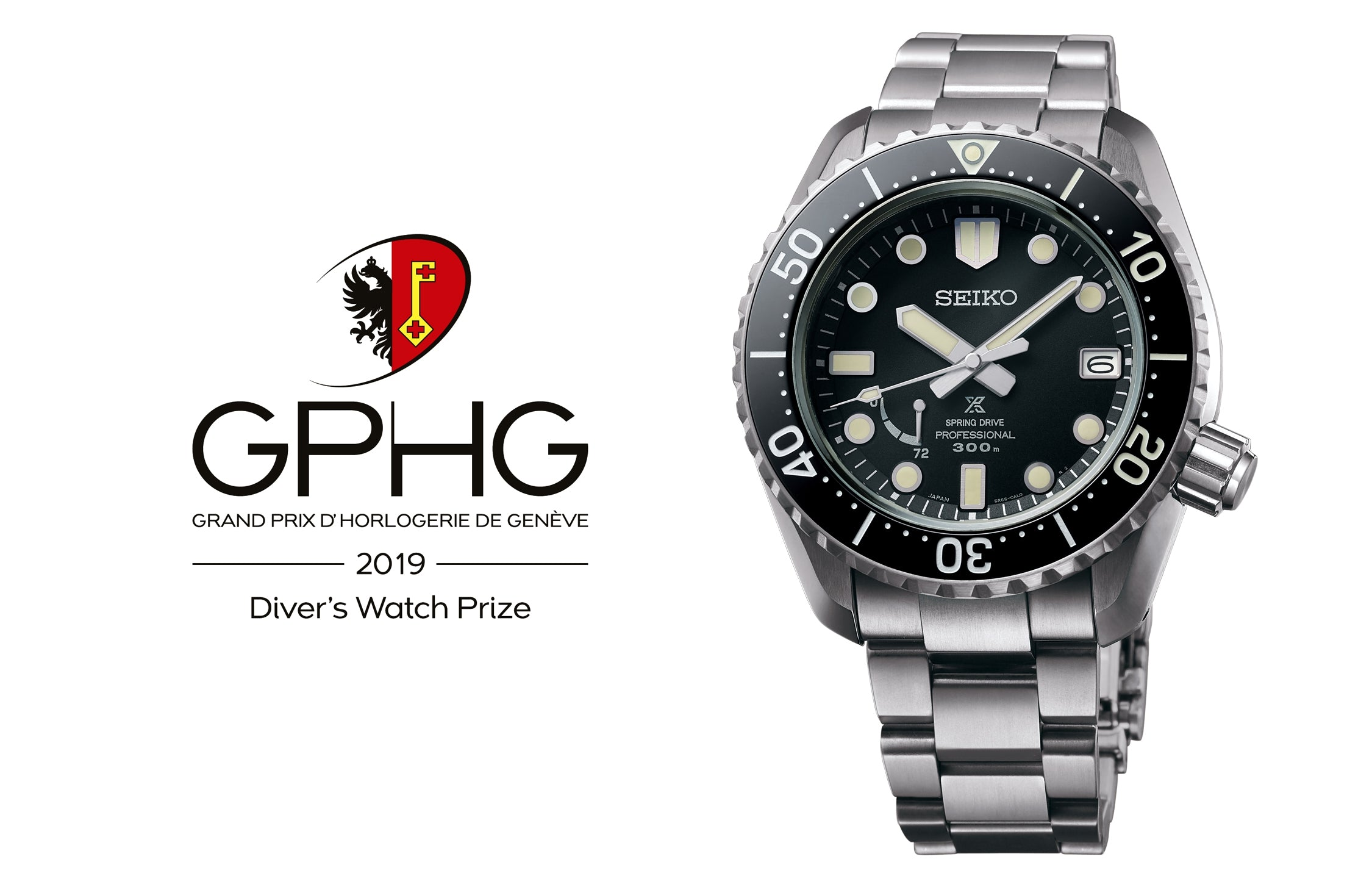 The Seiko Prospex LX Line Diver's wins the Diver's Watch Prize at the 2019 Grand Prix d'Horlogerie de Genève. A consecutive honor for Seiko in the sports/diver's category.