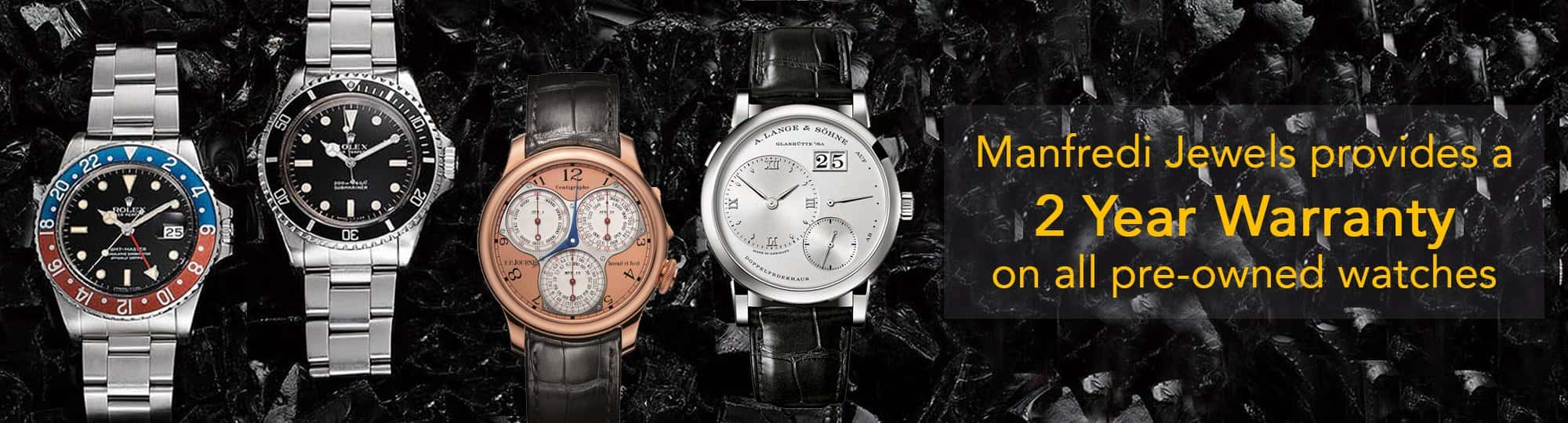 manfredi jewels - 2 year warranty certified preowned watches