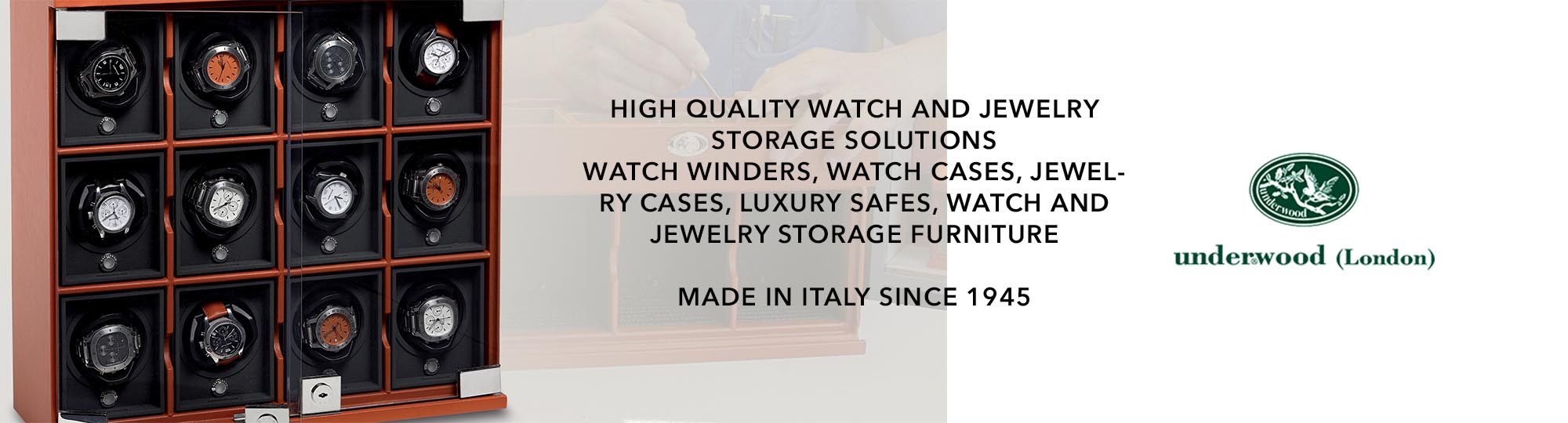 Underwood watch winder available at Manfredi Jewels