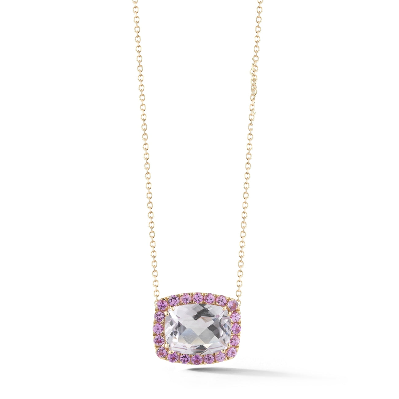 A & Furst Jewelry - Dynamite pink sapphires and rose pendant | Manfredi Jewels