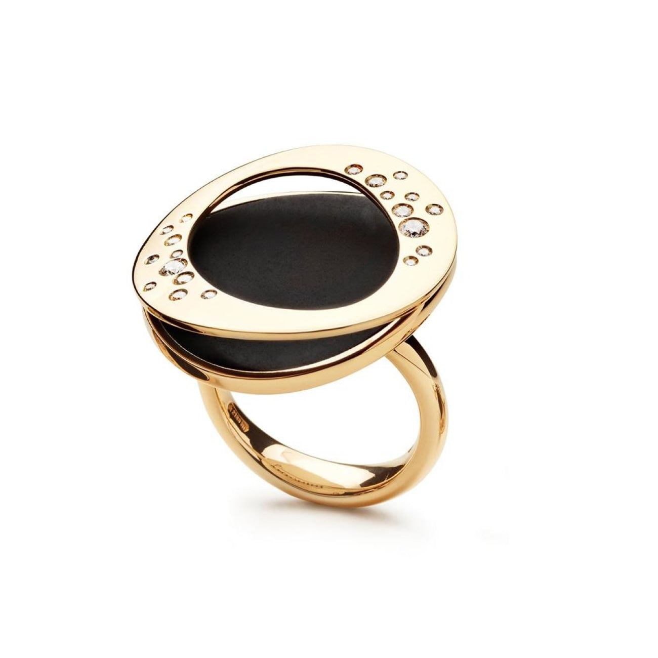 Antonini Jewelry - Antonini - Atolli collection ring L jet | Manfredi Jewels