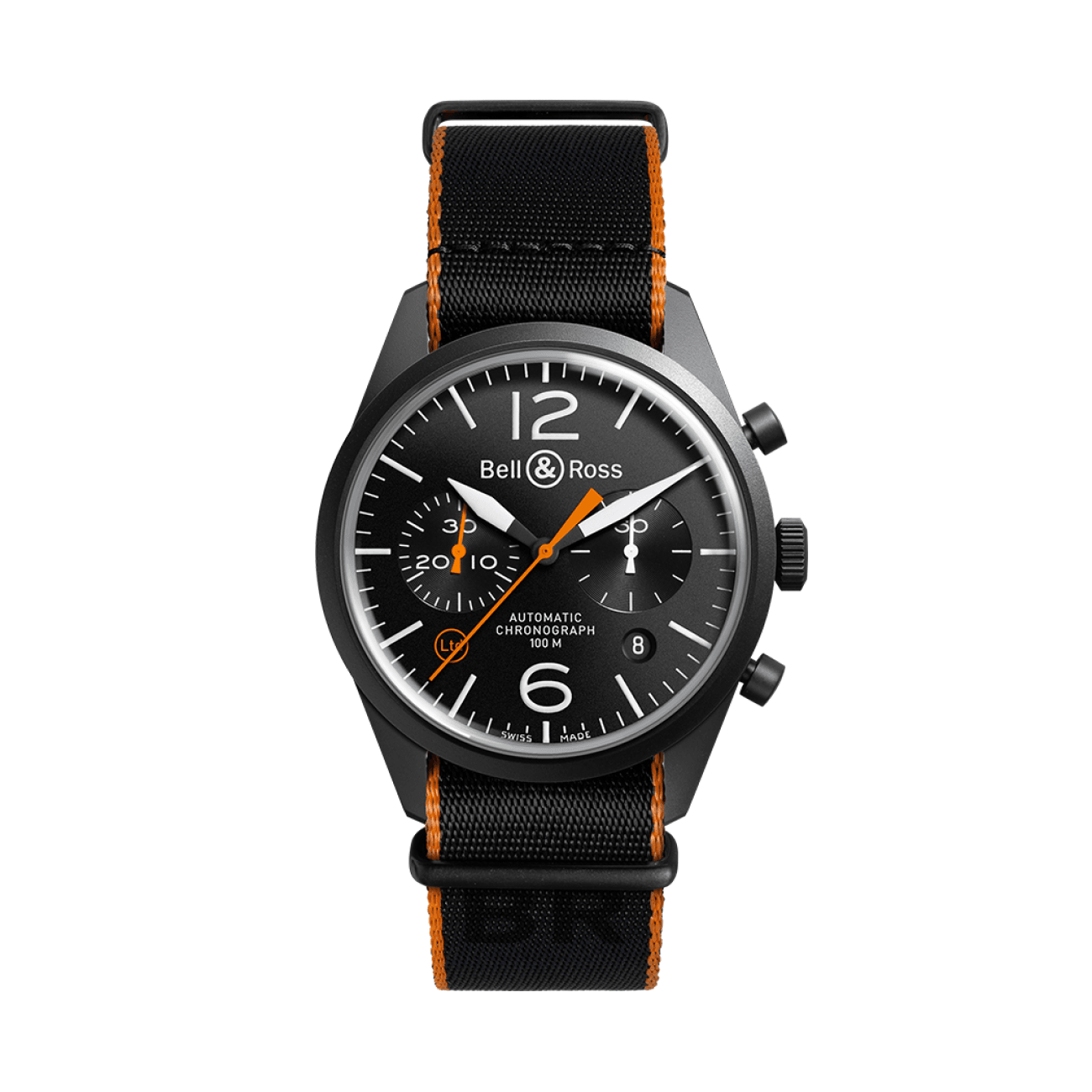 Bell & Ross Watches - BR 126 CARBON ORANGE | Manfredi Jewels