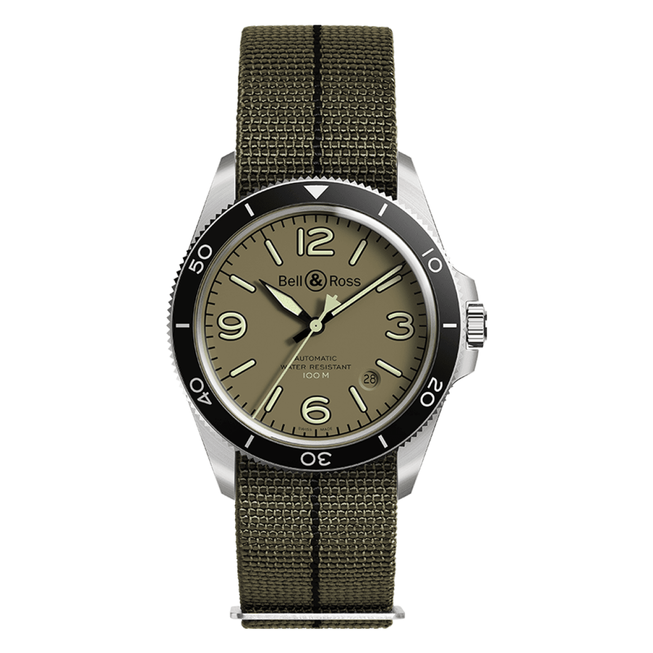 Bell & Ross Watches - BR V2-92 MILITARY GREEN | Manfredi Jewels