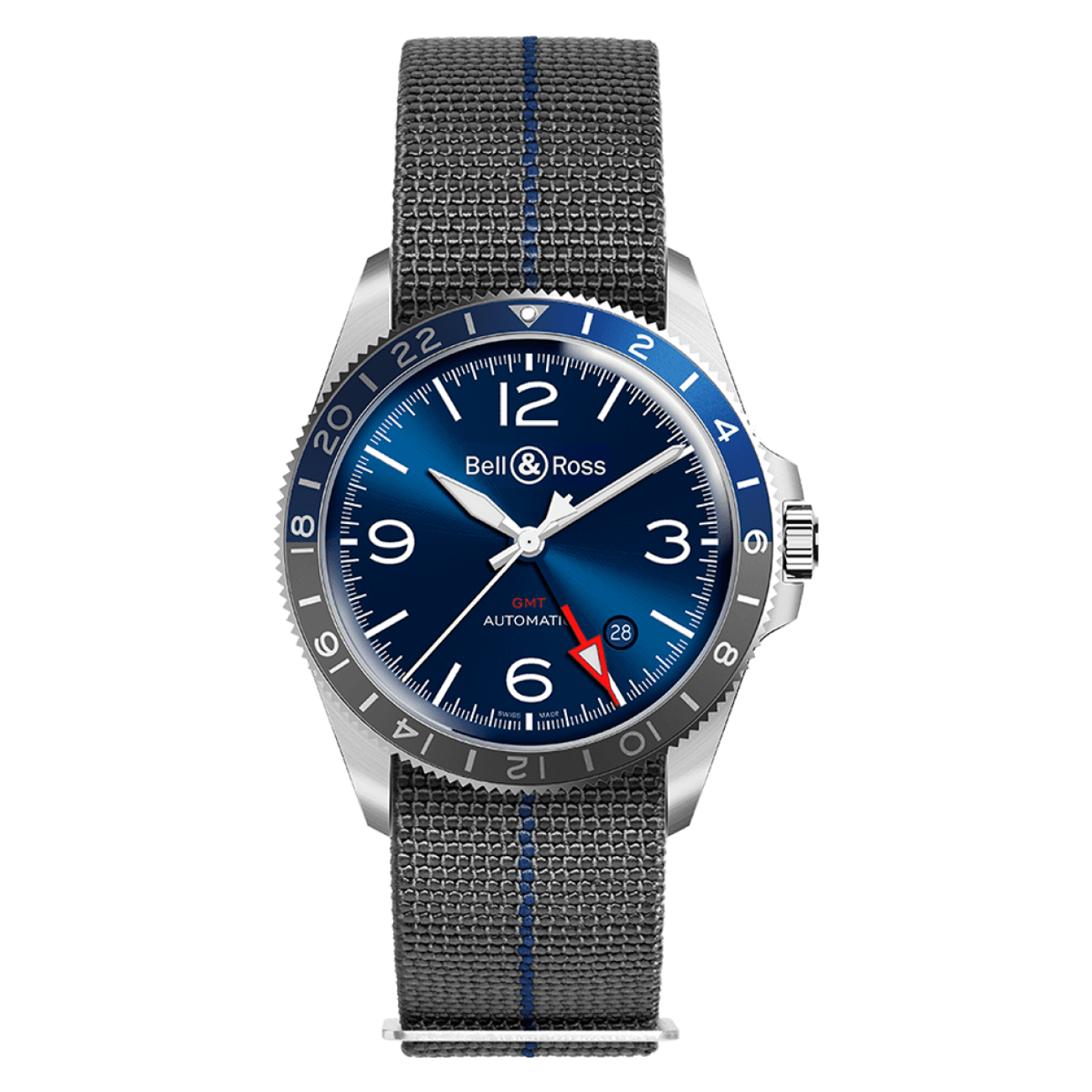 Bell & Ross Watches - BR V2-93 GMT BLUE | Manfredi Jewels