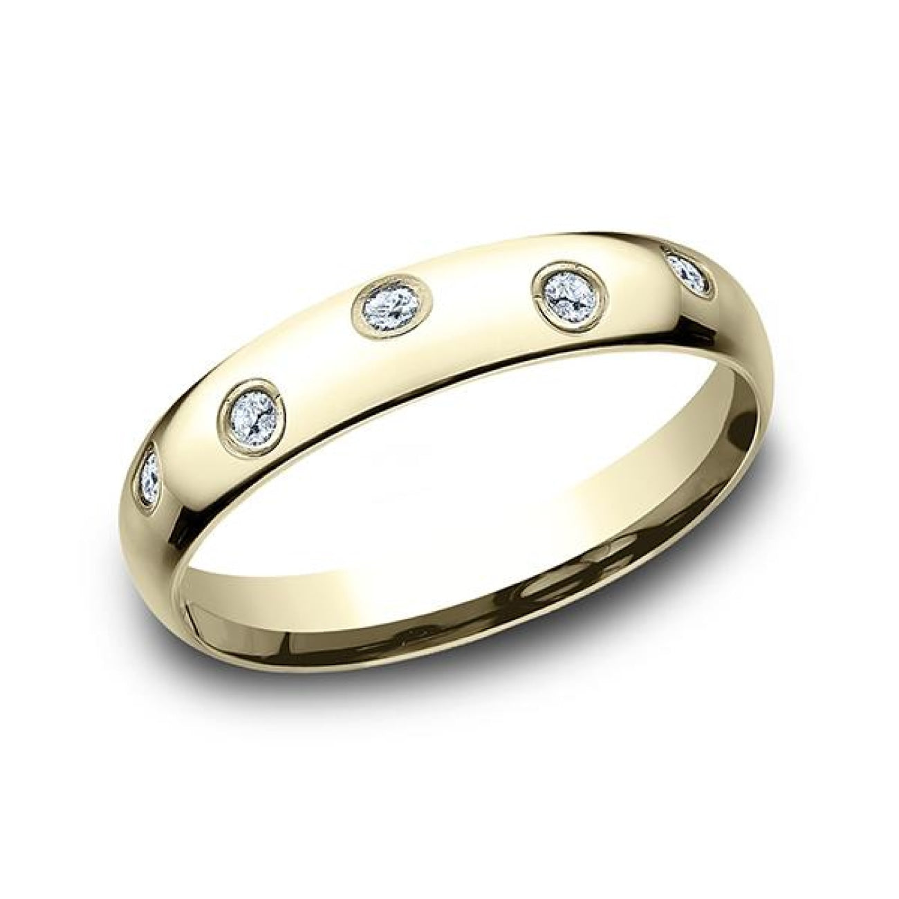 Benchmark Engagement - Comfort-Fit Diamond Wedding Ring | Manfredi Jewels