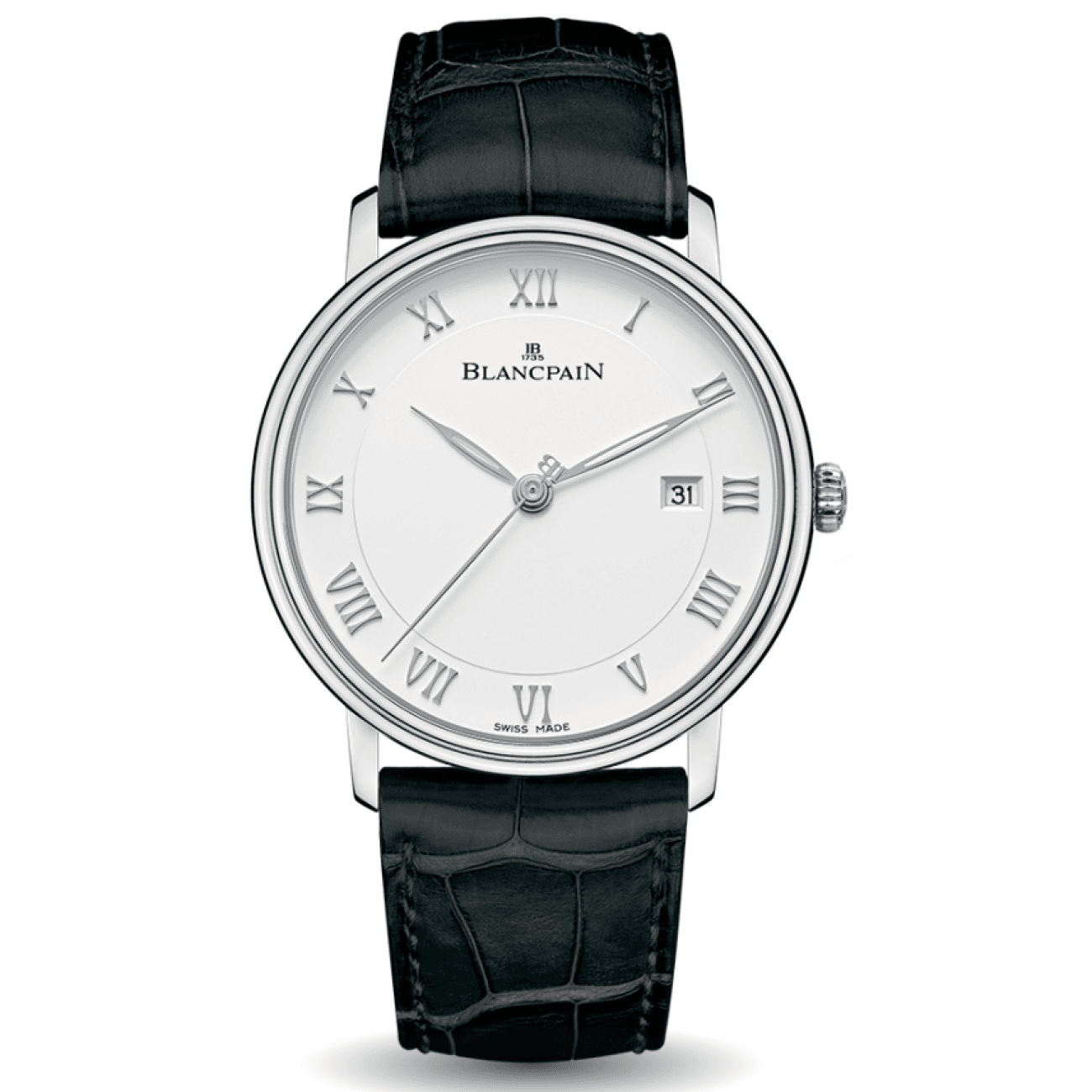 Blancpain Watches - Blancpain ULTRA- SLIM DATE WHITE DIAL | Manfredi Jewels