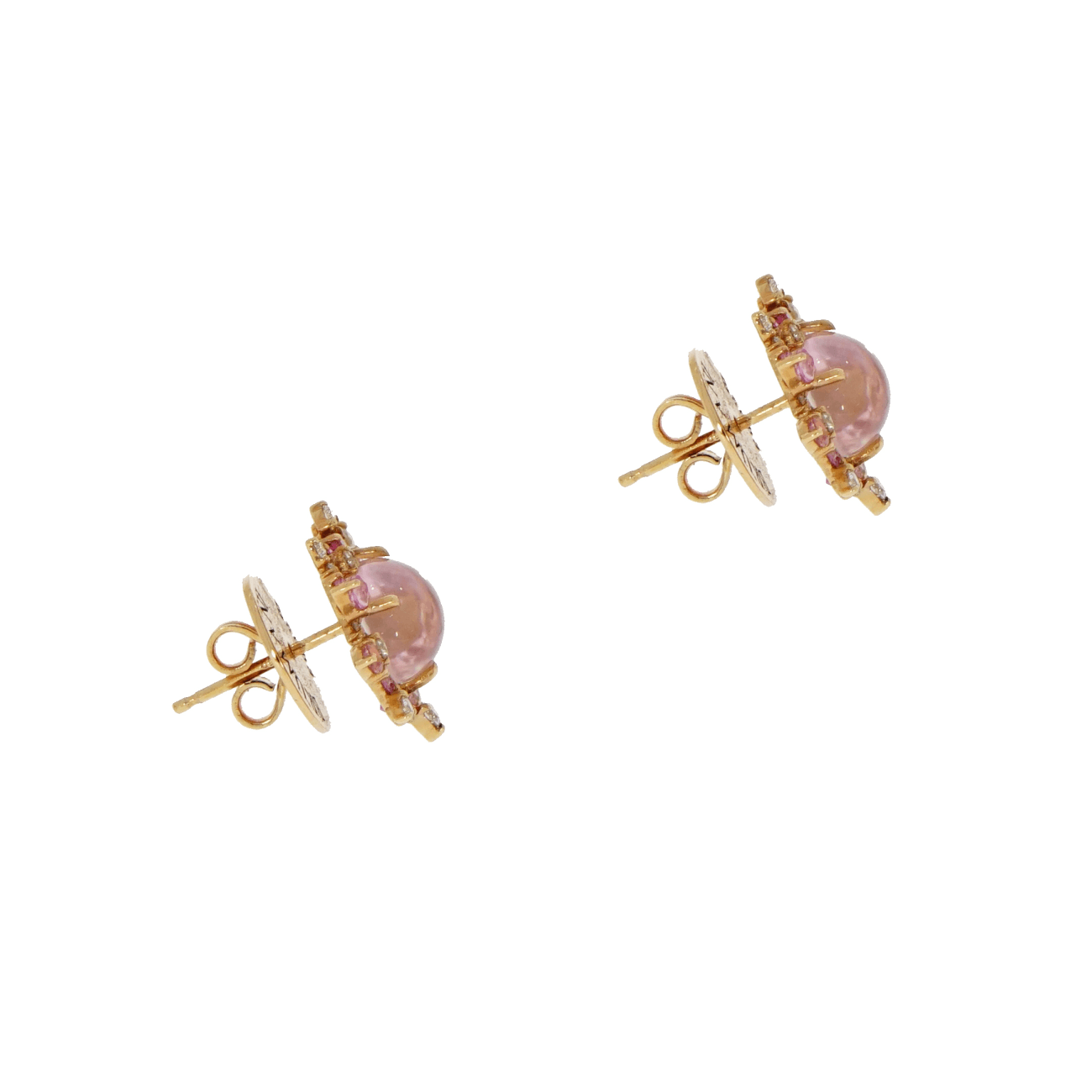 Brumani Jewelry - Baoba Pink Stud Earrings | Manfredi Jewels