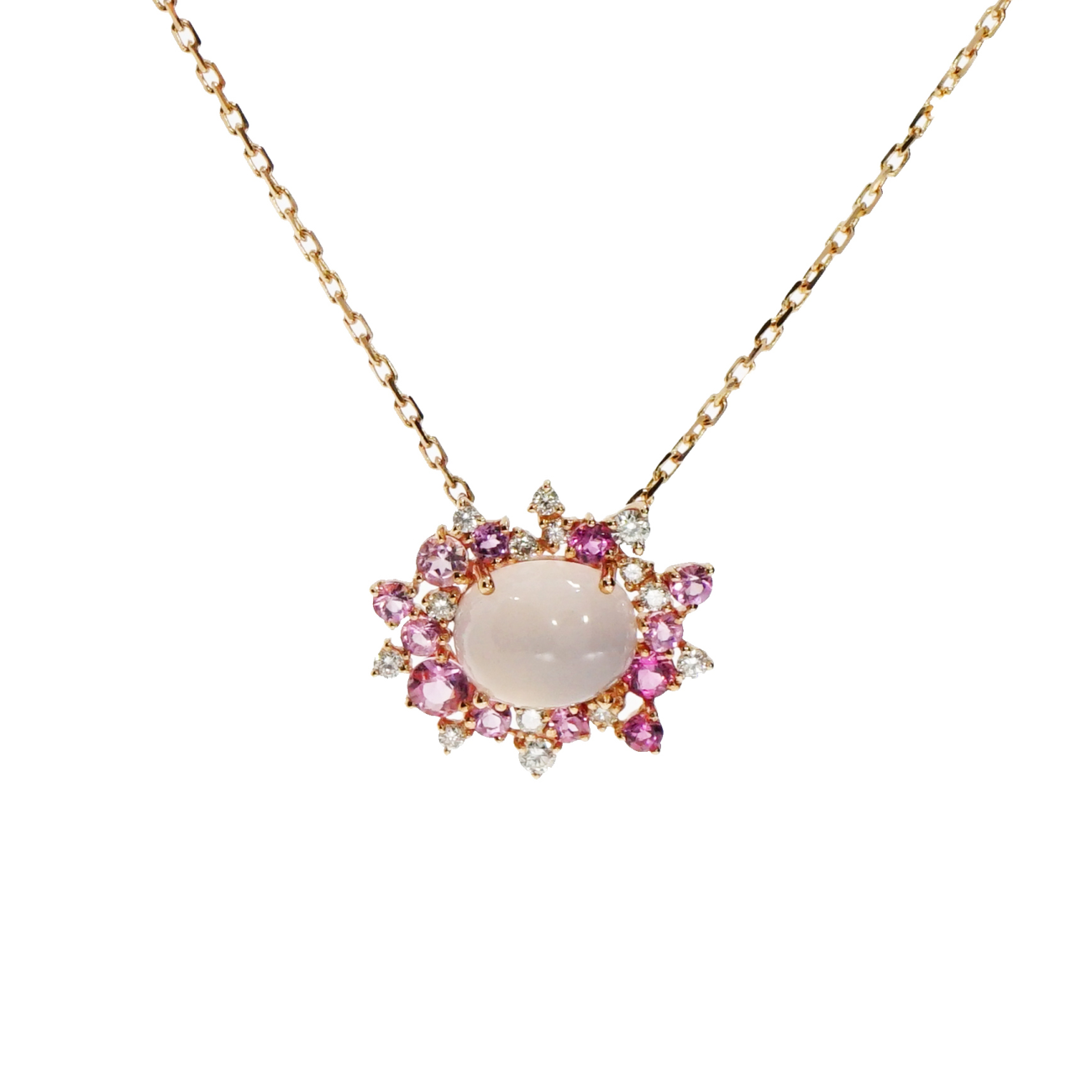 Brumani Jewelry - Baoba Pink Tourmaline Pendant Necklace | Manfredi Jewels