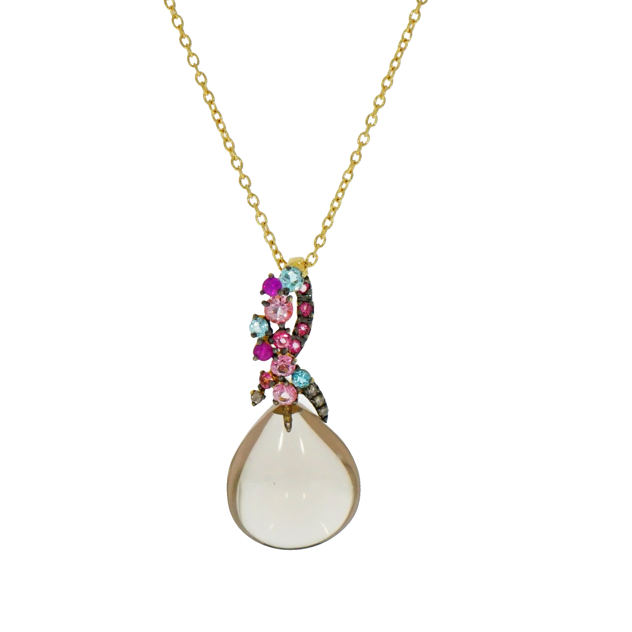 Brumani Jewelry - Smoky Quart Pendant | Manfredi Jewels