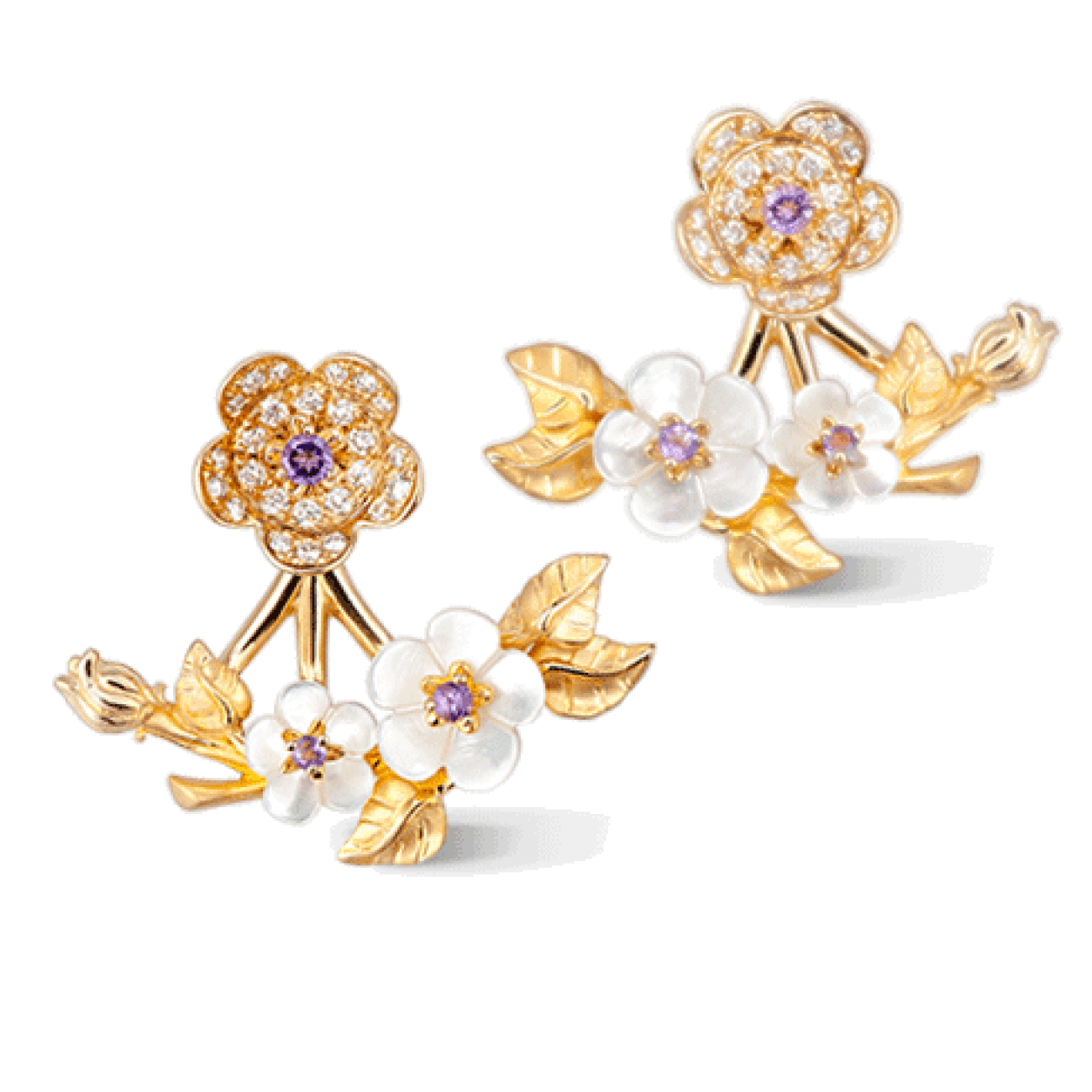 Carrera Y Carrera Jewelry - Cerezo Medium Earrings | Manfredi Jewels