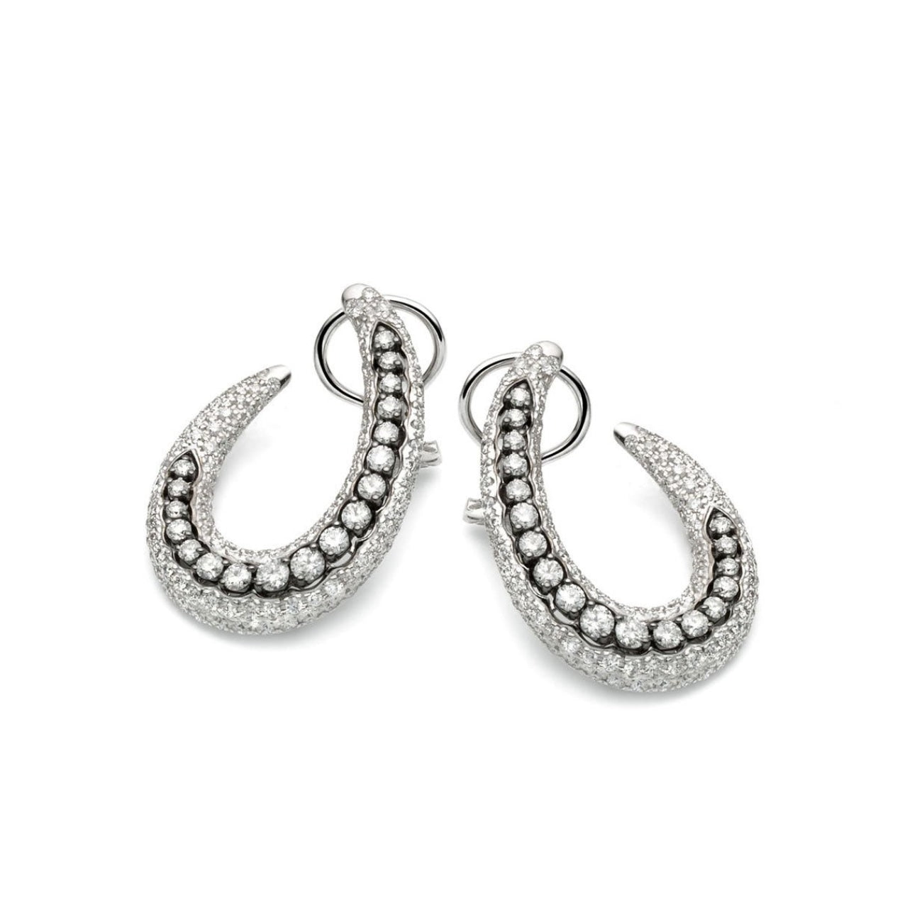 Casato Jewelry - 18kt white gold earrings with diamonds | Manfredi Jewels