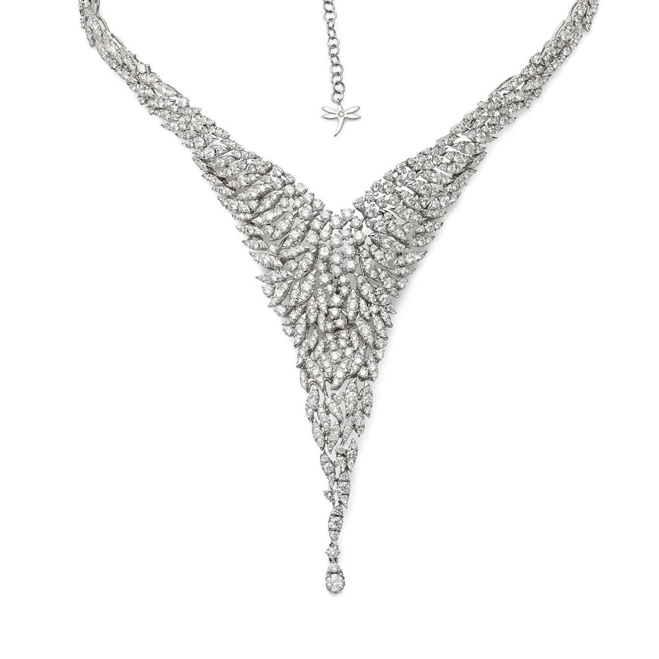 Casato Jewelry - 18kt white gold necklace with diamonds | Manfredi Jewels