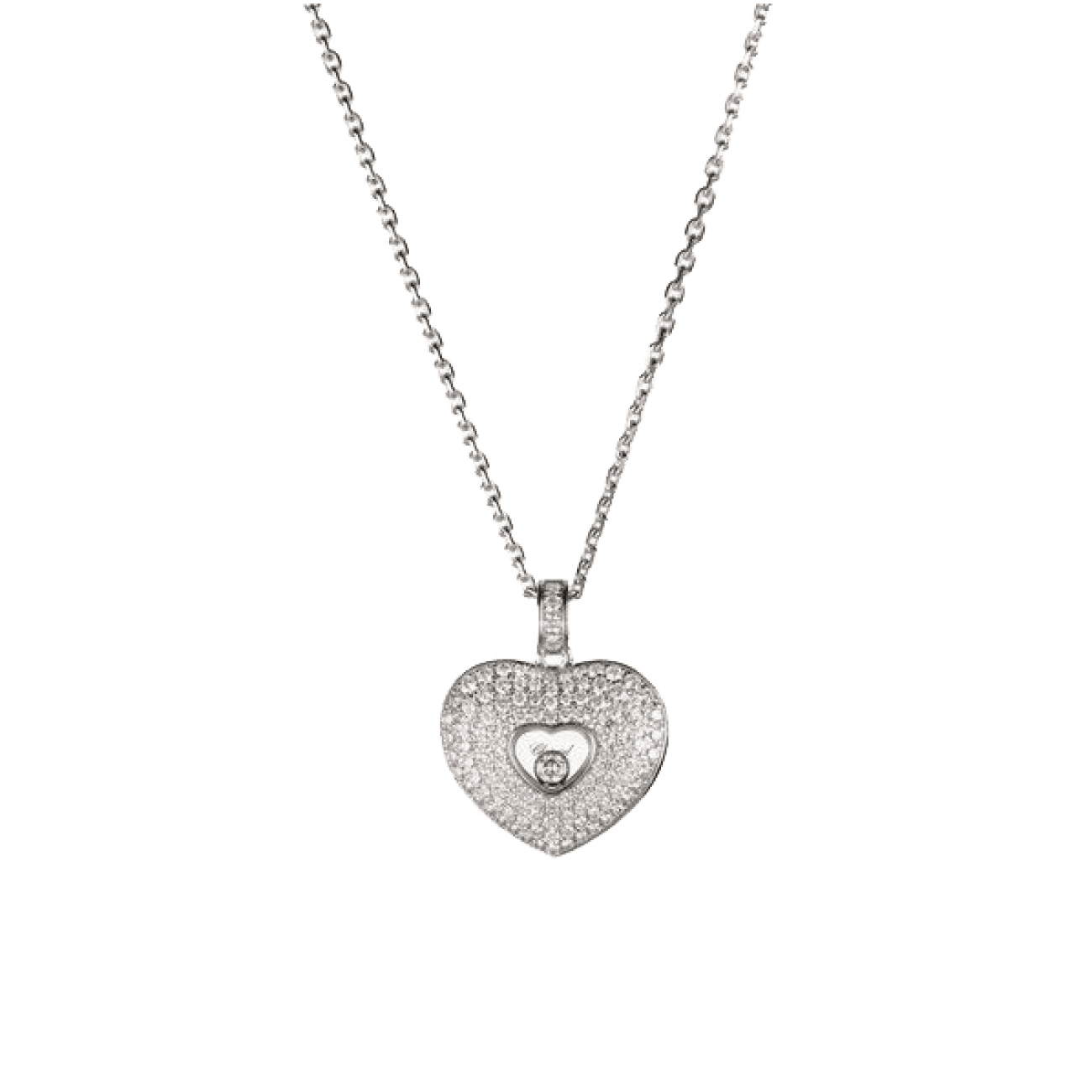 Chopard Jewelry - Happy diamond heart pave diamond Necklace | Manfredi Jewels