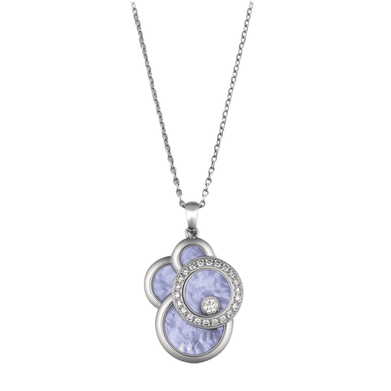 Chopard Jewelry - Happy diamond mop blue necklaces | Manfredi Jewels