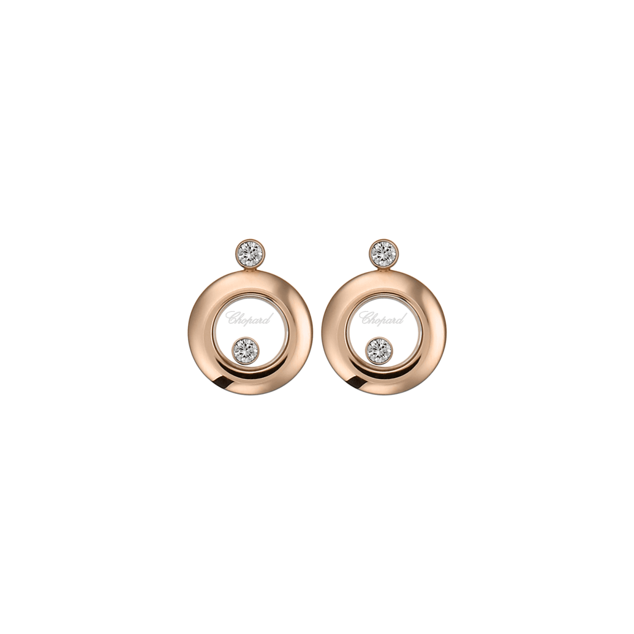 Chopard Jewelry - HAPPY DIAMONDS RD. 1 FLOATING DIAM Earrings | Manfredi Jewels