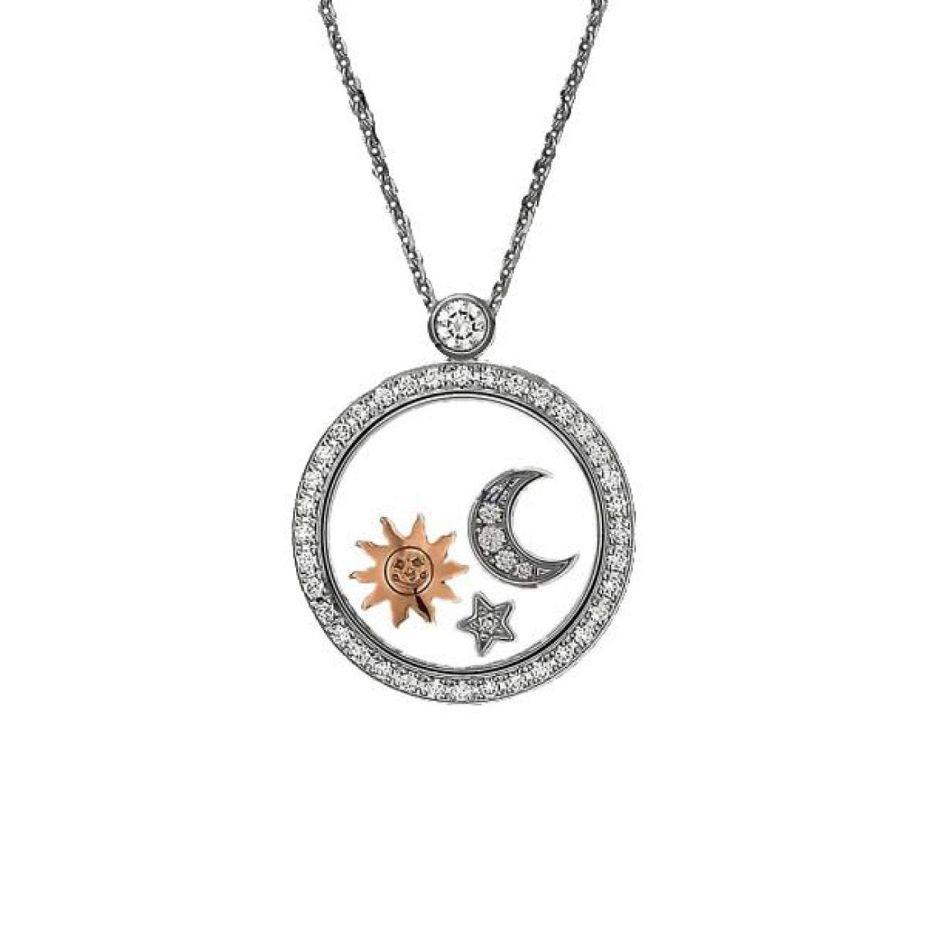 Chopard Jewelry - Happy diamonds star moon and sun Necklace | Manfredi Jewels