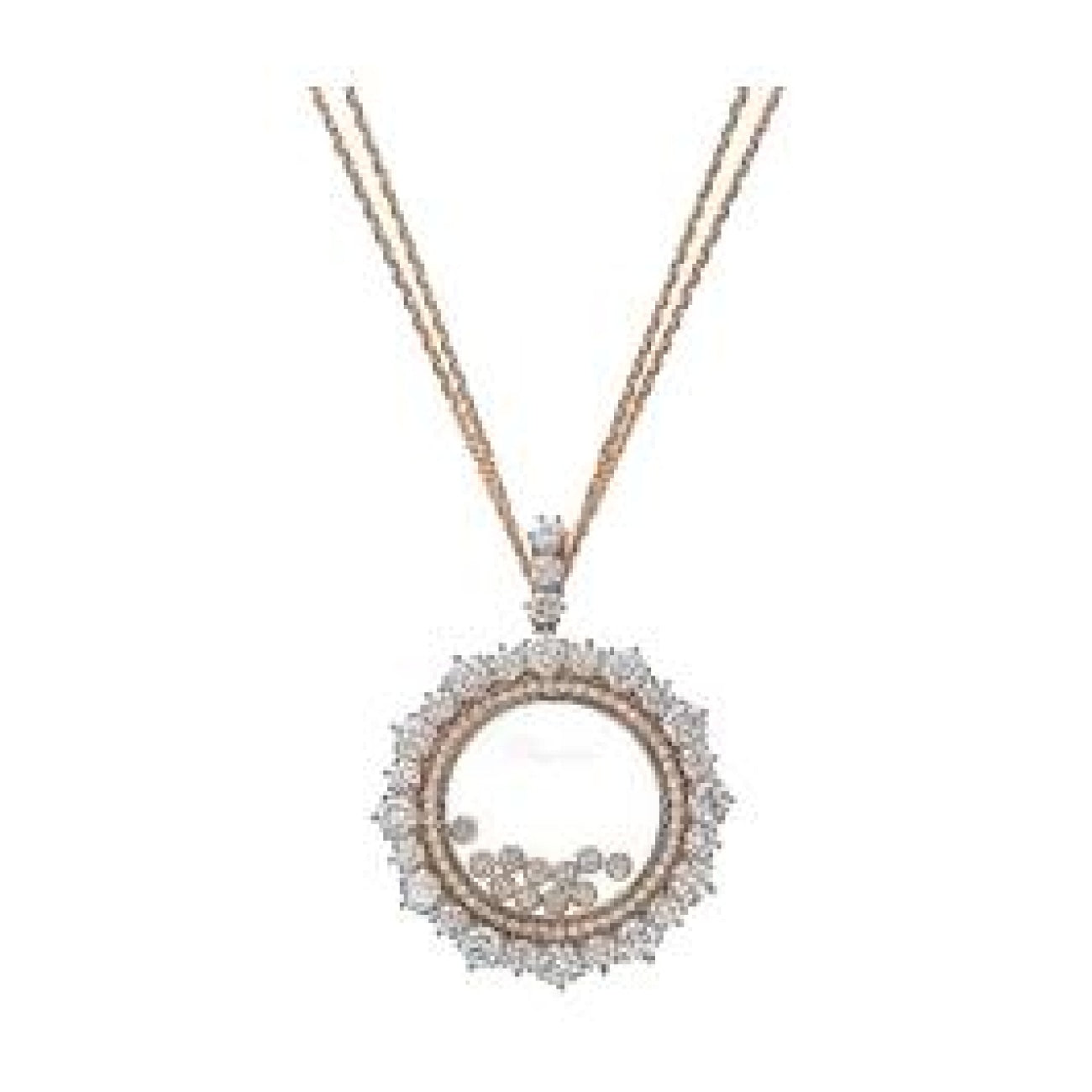 Chopard Jewelry - ROSE GOLD PENDANT HAPPY DIAMONDS WITH CHAIN | Manfredi Jewels