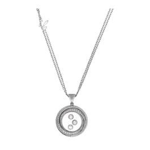 Chopard Jewelry - WHITE GOLD PENDANT HAPPY EMOTIONS WITH CHAIN | Manfredi Jewels
