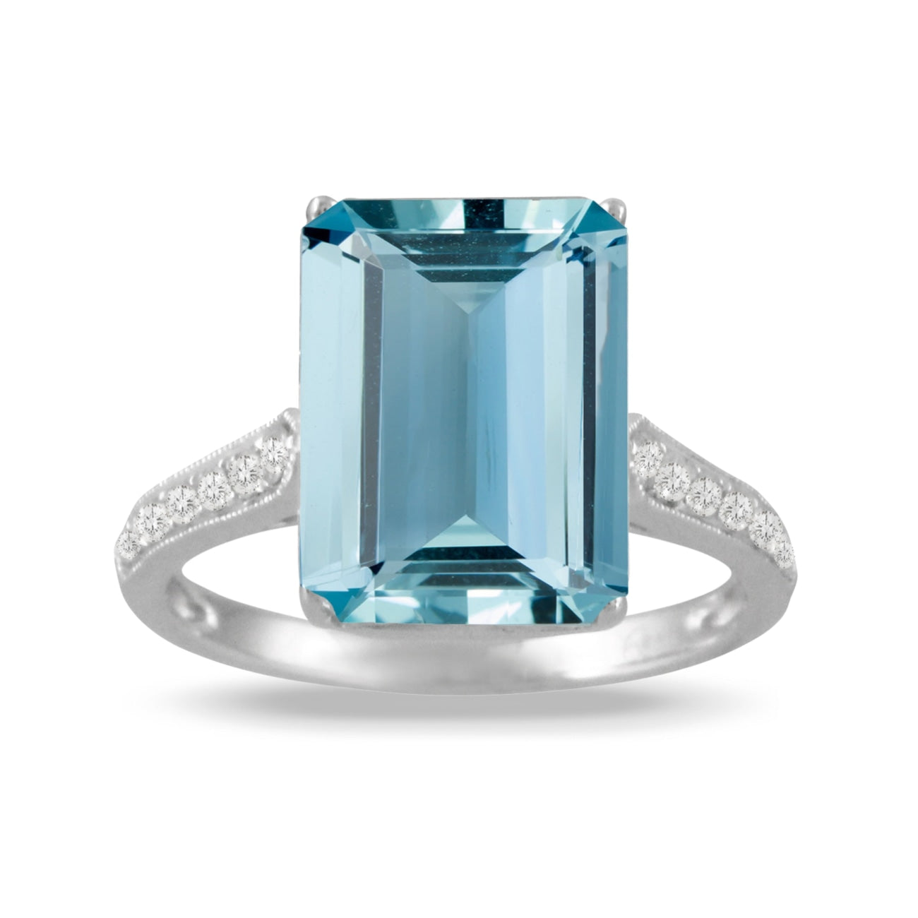 Doves Jewelry - Doves 6.56 Carat Aquamarine and Diamond Ring 18k | Manfredi Jewels
