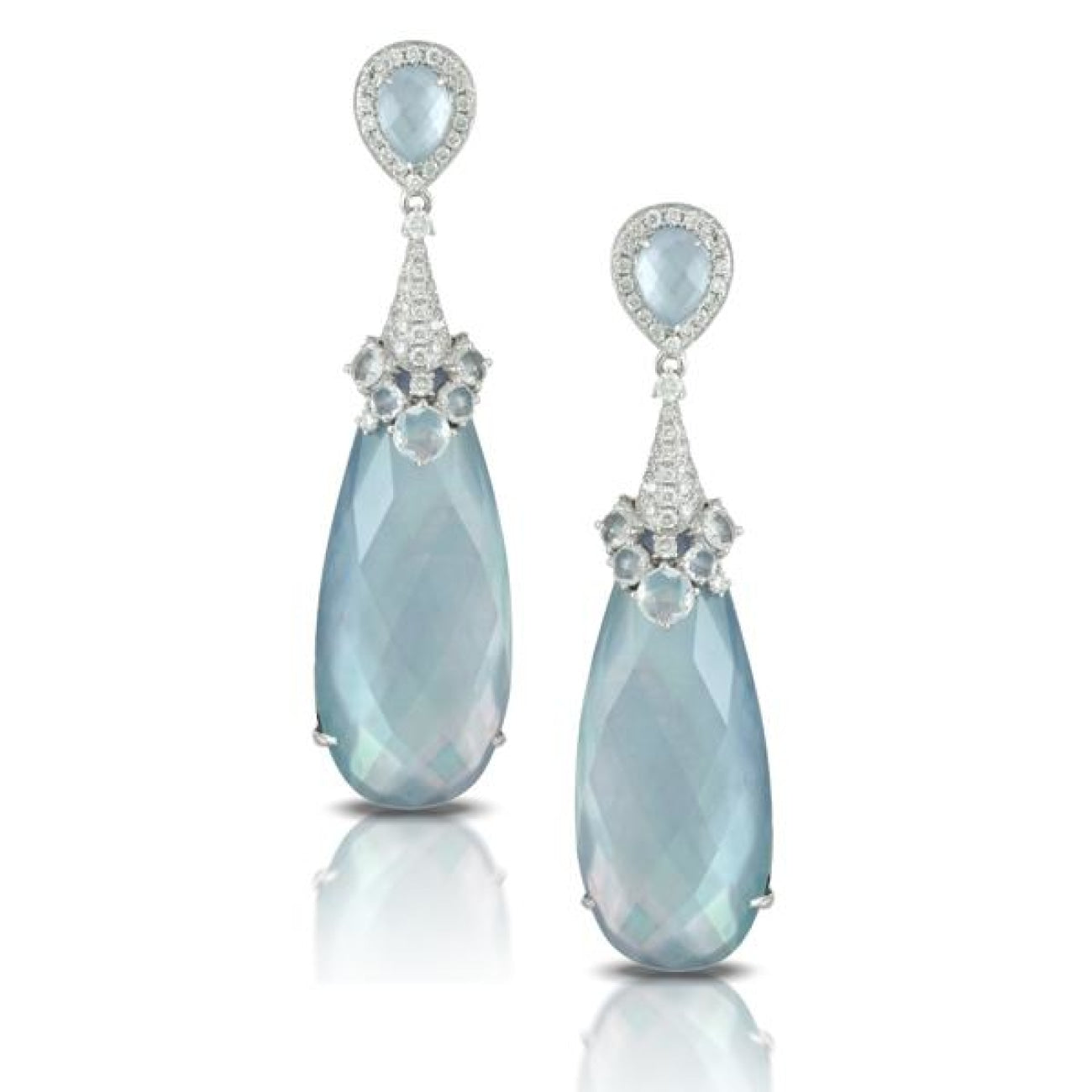 Doves Jewelry - Ivory Sky Collection Earrings | Manfredi Jewels