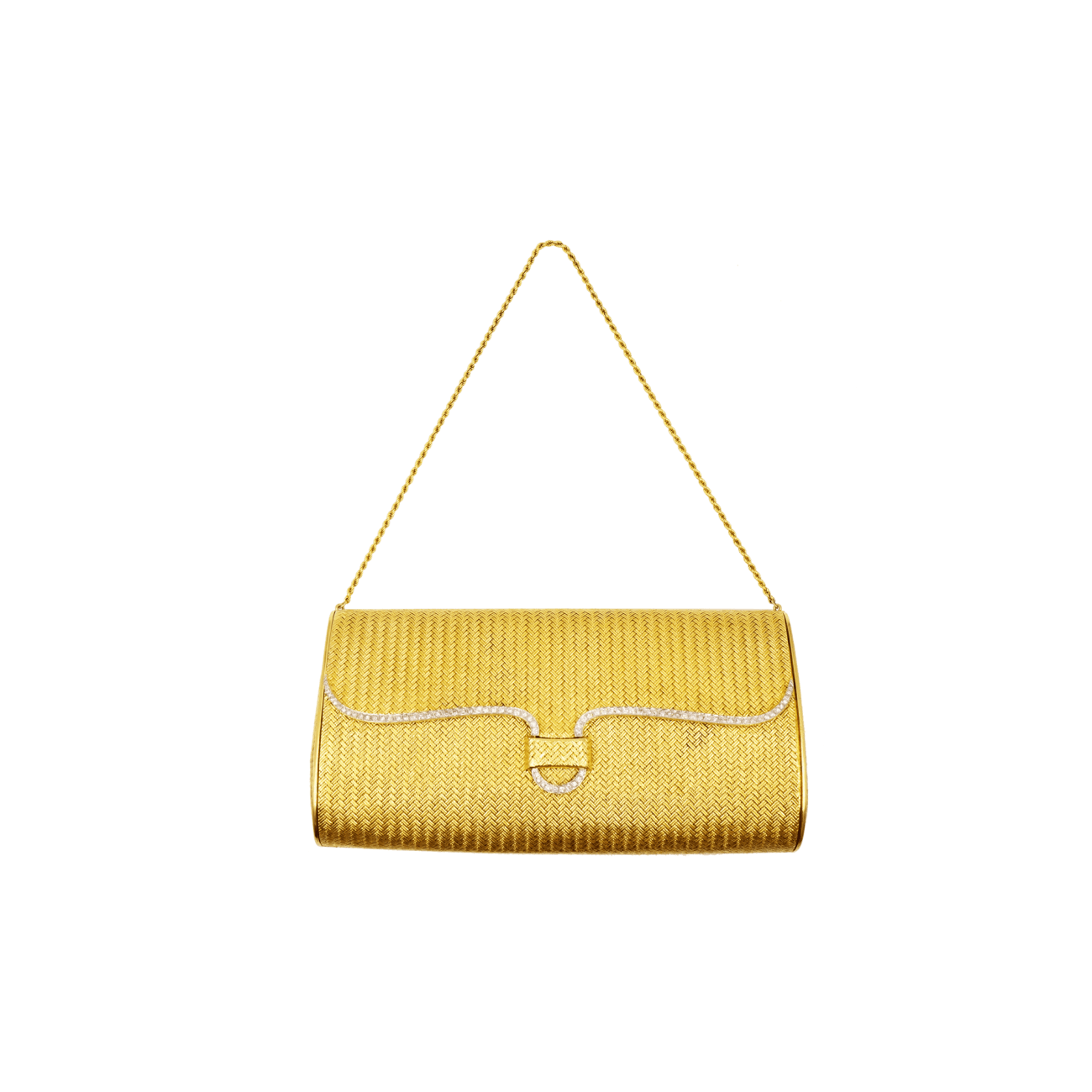 Estate Jewelry Estate Jewelry - 18K Yellow Gold & Diamond Clutch Bag | Manfredi Jewels
